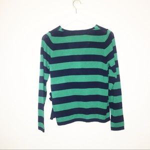 ASOS Sweaters - NWT ASOS | Navy and Green Wrap Sweater | 6